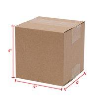 """Waco pequenos caixas onduladas de papel de correspondência, papel de 4x4x4 """", papelão de papelão kraft, embalagem e em movimento, (pacote de 100)"""