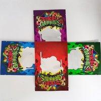4 Styles Dank gélifiés à sec Fleur d'emballage Sac Zipper verrouillage refermable 500MG stand poche mylar Sacs sans odeurs Sac de papier d'aluminium Recyclable
