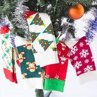 뜨거운 크리스마스 장식 남자와 여자를위한 크리스마스 양말 선물 가방 크리스마스 눈이 녹색 guai 작은 나무 양말 t2i51343