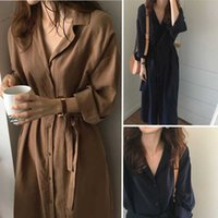 2020 Fashion Trench Coat For Women Silm Loose Lapel Over The Knee Trench Coat Ladies Sunscreen Clothing For Women