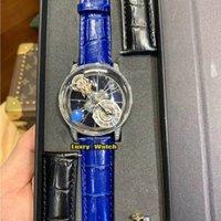 Luxry Watch RF Versão Retating Dial CR7 Epic X Chrono Decoração Astronómica Tourbillon Esqueleto Suíço Quartz Prata Diamante Caso Relógios