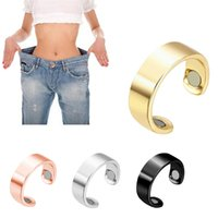 Fashion Abnehmen Health Care Ring Stud Weight Loss Halten Fitness Micro Magnetic-Finger-Ring Fat Burning String Stimulating Faule
