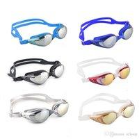 Unisex Adulto revestimento espelhado Desporto Aquático Sportswear Anti Fog Anti UV Waterproof natação óculos óculos New Arrival 2506006