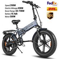 US Stock Bike elettrico 48 V 500W pieghevole bicicletta elettrica pneumatico grasso e bici mountain bike fuori strada scooter elettrico ad alta velocità w41215024