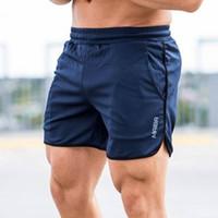 Новая тенденция летний повседневный пляжный шорты мужские буквы печать шорты тренажерных залов для мужчин мужчин короткие дна с M-2XL