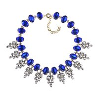 Европейские и американские Горячие продаваемым аксессуары Мода ретро Кристалл листьев ожерелье дамы ювелирные изделия