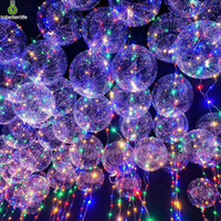 BOBO bola balão levou corda luz Transparente LED balão para a festa de casamento do Dia de Natal Decoração de casa
