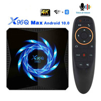 Smart TV Box Android 10 4GB 32GB 64GB 4K H.265 Media Player 2.4G / 5.0G WiFi Bluetooth Set Top Box Android TVBox X96Q MAX
