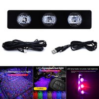 2020 Atmósferas de automóviles Lámpara LED LED Pie Light Light Ambient Decoration Control de sonido CSL88