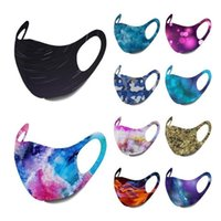 Star Sky Printed Face Mask Camouflage Fire Figure Muti Colors Hanging Reusable Mask Starry Print Printing Washable Protective Masks Unisex