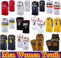 Herren Frauen Kinder Jugend Zion 1 Williamson Victor 4 Oladipo Basketball Jersey NCAA Allen 3 Iverson Reggie 31 Miller Retro genähtes Jersey