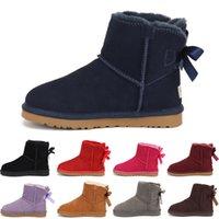 2020 d'hiver Filles Bottes enfants Bottes enfants Sonw hiver chaud chaussures de fourrure en peluche cuir PU imperméable en caoutchouc Mode Bébé Princesse Chaussures