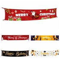 Feliz Bandeira do Natal da flâmula graduação Dia das Bruxas feliz da bandeira do aniversário Grande Xmas sinal da casa partido Home Decor adereços 3M * 50 centímetros FFA4367-1