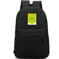 FC Nantes рюкзак Les Канарис день пакет Франция команда школы мешок футбольный клуб рюкзак Soccer рюкзака Sport Schoolbag Открытый рюкзака