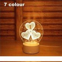 3D Led Night Light Changement Nouveauté Lampe de table Home Decor Lampe de chevet 3d Cadeaux enfants 2018 Nouveau 7 couleur roue lFerris
