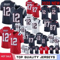 12 Tom Brady 87 Rob Gronkowski Men Jersey 11 Julian Edelman ...