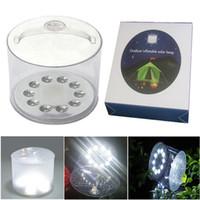 Şişme Güneş Lambaları Taşınabilir Açık Su Geçirmez Fener Kamp Acil LED Işıklar Bahçe Yard Şeffaf Buzlu Aydınlatma