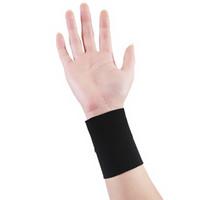 2pcs compression Support de poignet élastique manches Sport Wristband Bandage Gym Brace main Wrap Tennis Band Fitness Noir / peau XXL