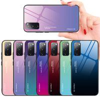 Estuches de vidrio templado de pendientes delgados para Samsung Galaxy S20 Fe 5G Nota 20 Ultra S10 Note10 A70 A50 A20 A10 S21