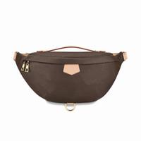 Высочайшее качество мода PU кожа коричневые цветы сумки женские сумки дизайнер Fanny пакеты знаменитые талии сумки сумка леди ремень сундук кошелек