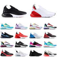 270 react Yeni Varış Marka Hava 270 react BAUHAUS erkekler koşu ayakkabı tepki Parlak Menekşe OPTIK Mavi Void erkek eğitmen nefes spor açık 270s sneakers