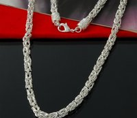 Special Offer 925 Sterling silver Byzantine Chain necklace classic jewelry 5mm man jewelry chains necklace gift Freeh