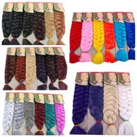 Sintetico Jumbo intrecciare i capelli trecce di capelli 82inch Bulk 165G Crochet Twist In Synthetic estensioni dei capelli Stock