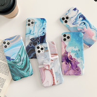 Custodia in marmo Telefono Coral Pattern for iPhone 11 Pro XS Max XR 7 8 Plus SE 2020 con staffa