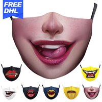 DHL Europa e in America più venduti zanne digitale protezione stampa antipolvere maschere smog Designer può essere pulito e messo le maschere di filtro