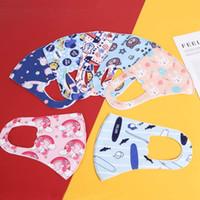 enfants masque facial masques Mode pour enfants de glace soie de protection imprimé masque facial poussière brume perméable à l'air re lavable masque de dessin animé enfant