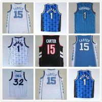 NCAA أفضل نوعية كلية نورث كارولينا الرجال الفانيلة جامعة كارتر جيرسي تريسي 1 ماكجرادي الفانيلة بيني 1 Hardaway Vince 15 كارتر قميص