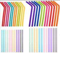 25colors del silicone Cannucce Etero Cocktail Curve paglia Acqua Latte Caffè Straws riciclabile silicone del commestibile paglia partito HHA1551