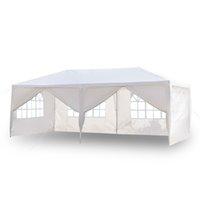 Outdoor Patio 10x20ft Wedding tent 6 pareti finestra Cerniera Porta Canopy partito Heavy Duty 3x6m Gazebo Padiglione approvvigionato Eventi azionari statunitensi