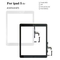 iPad Air 1 iPad 5 Dokunmatik Ekran Sayısallaştırıcı ve Ev Düğme Ön Cam Ekran Dokunmatik Panel Değiştirme A1474 A1475 A1476 için Yeni