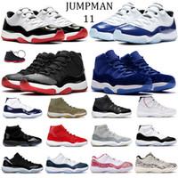 Retro 11 11s Basse légende concord bleu blanc 45 hommes élevés Chaussures de basket or métallique XI Femmes Sport Chaussures de sport 36-47