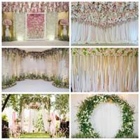 Flor de la boda Laeacco Fotografía Rosa escenarios de fotos Rose Wall Etapa borla Retrato fondo de la foto Photocall Estudio