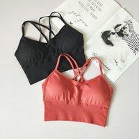 Spor Giyim Kesintisiz Spor Sutyen Koşu Arka Çapraz Strappy Güzellik Yoga Çıkarılabilir Pedleri Ile Sütyen Spor Kadın Fitness Top Actio