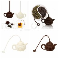 Tetera de silicona filtro de té Forma segura de limpieza reutilizables infusor té café Tamiz del té Fugas de cocina Accesorios RRA3495