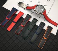 Rol için En kaliteli 20mm Kavisli Bitiş yumuşak kordonlu saat Silikon Kauçuk İzle bant kayış GMT kaşif 2 Bilezik