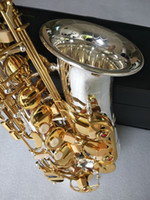 Yüksek Kalite Yeni YANAGISAWA A-WO37 Alto Saksafon Müzik Aletleri Pirinç Gümüş Yüzey Altın Anahtar Eb Sax ile ağızlık