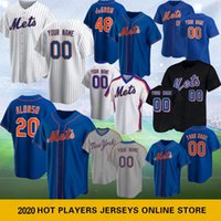 20 Pete Alonso 2020 nuovo baseball maglie 48 Jacob deGrom Darryl Strawberry Keith Hernandez Dwight Gooden 31 Piazza Jersey