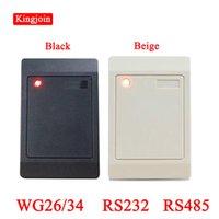 Parmak İzi Erişim Kontrolü Toptan 13.56 MHz / 125 KHZ WG26 / 34 RS232 RS485 RFID Okuyucu Çıkışı Kart Sistemi için