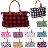 33 style Fashion Buffalo Check handbag Red Black White Plaid Bags Large Capacity travel Tote With PU Handle storage Maternity bag JJ720