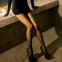 Damen Socken ultradünne Buchstabenmuster Strumpfhose Luminous Druck Nicht einfach zu snag Breathable Strümpfe Anti-Reibung Sexy All-Match neuen st
