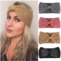 Xugar Kızlar Rhinestone Knot Bantlar Makyaj Yün Örgü Elmas Hairband İçin Kadınlar Kış Elastik Bezel Bayan Saç Aksesuarları