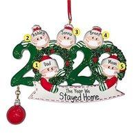 2020 Aislamiento nueva Navidad Decoración de Navidad superviviente del kit de decoración de PVC mascarilla de muñeco de nieve árbol de Navidad colgando colgante DIY