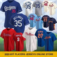 20 Pete Alonso Uomini Baseball maglie 46 Paolo Goldschmidt maglie 35 Cody Bellinger 3 Bryce 4 Yadier Molina 27 Jose Altuve 2 Alex Bregman 2020