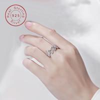 Me encanta que te cases conmigo sonar marca de moda T originales de las mujeres% S925 anillo de plata de circón natural de diseño de joyería pura libre de envío