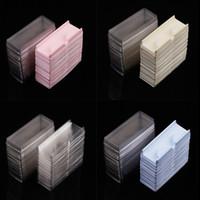 Cassetto per ciglia finte e scatola di imballaggio della copertura vuota Tra y rosa / blu / giallo / trasparente Pacchetto colori per leye shes