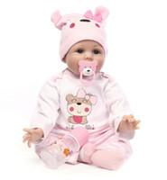 55CM gran cuerpo blando de silicona bebes Renacido muñeca de juguete para niñas recién nacidas bebé regalo de cumpleaños de la hora de acostarse temprano de Navidad regalo de los niños Educación